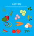 fresh vegetables heathy foods vector image