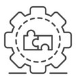 full puzzle cog wheel icon outline style vector image