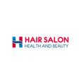 hair salon h letter icon for hairdresser vector image vector image