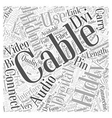 hdtv cables Word Cloud Concept vector image vector image