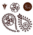 Henna indian tattoo doodle elements vector image