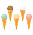 ice cream with cone 06 vector image vector image