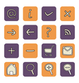 Icon or button violet and orange tool set vector image vector image