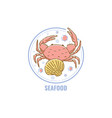 label for product free from seafood allergen vector image