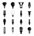 Light bulb icons set simple style vector image vector image