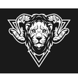 lion with horns and geometric symbols vector image vector image