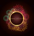 luxury diwali greeting festival banner poster vector image vector image