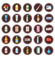 Medicament set of icons vector image vector image