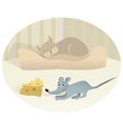 Mouse and cat vector image