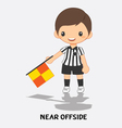 near offside flag signals vector image vector image