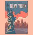 new york retro poster vector image vector image