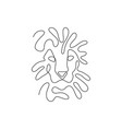 one line lion head design silhouette minimalism s vector image vector image
