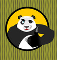 Panda thumb up and winks Chinese bear all good vector image vector image