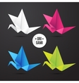 paper origami crane bird icon Colorful vector image vector image