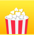 popcorn big round box movie cinema icon in flat vector image vector image