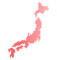 red dot japan map vector image vector image