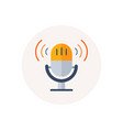 retro microphone icon sound music or voice record vector image