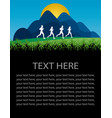 runners poster vector image