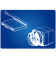 safe and case on a blue vector image vector image