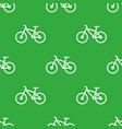 seamless bike pattern vector image vector image