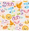 Seamless pattern Funny Kawaii zodiac sign vector image