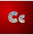 set aluminum or silver foil letters letter c vector image