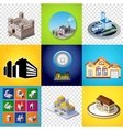 Set of images vector image