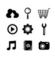 set of modern icons of social networking and vector image vector image