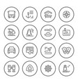 set round line icons of travel vector image