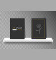 shelf mockup for product presentation and a4 vector image