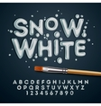 snow white alphabet and numbers vector image vector image