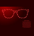 sunglasses from futuristic polygonal red lines vector image