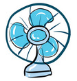 table fan hand drawn design on white background vector image