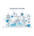 technology platform cloud storage network vector image vector image