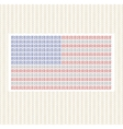 The American flag from lines against gold vector image vector image