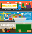 transportation goods and delivery trucks vector image vector image