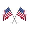 two crossed american flag vector image