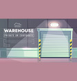 warehouse entrance closed roller shutters vector image vector image