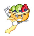 with menu fruit tart mascot cartoon vector image