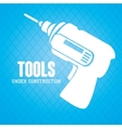 tools under construction vector image