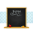 Wooden chalkboard for restaurant menu vector image