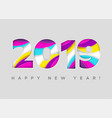 2019 happy new year card paper cut vector image