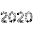 2020 lettering figure year fingerprint style font vector image vector image