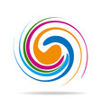 abstract swirly colors icon vector image