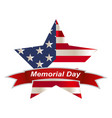 american flag honoring all who served banner for vector image vector image