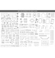 big set icons for interior top view plans vector image