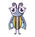 biology fly icon cartoon style vector image vector image