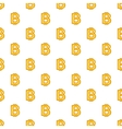 Bitcoin currency symbol pattern cartoon style vector image vector image