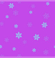 blue snowflakes on a purple background seamless vector image vector image