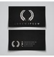 Business card template Laurel concept logo vector image vector image